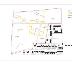 Plan of Archaeological Evaluation at Lee Mill, Devon