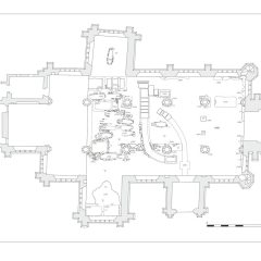 Plan of archaeology uncovered at St Andrew's, Ashburton, Devon