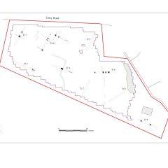 Plan of Archaeological evaluation on land behind Liney Road, Westonzoyland, Somerset.