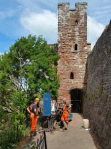 Archaeological Watching Brief, Rougemont Castle, Exeter, Devon